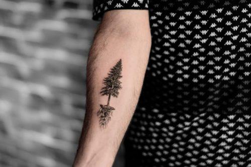קעקוע גרפי של עץ